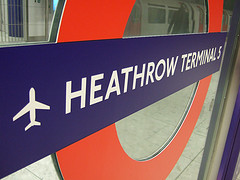 Heathrow Terminal 5 Underground Sign