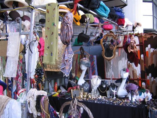 Vintage accessory stall - Portobello Rd