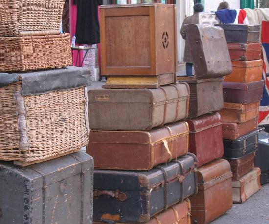 Vintage suitcases Golborne Rd