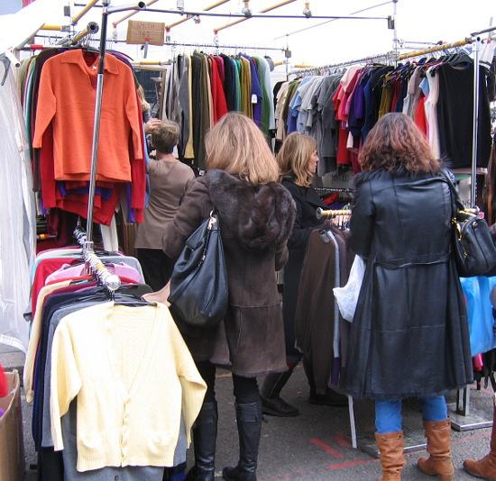 Cashmere stall Portobello Rd