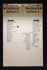 London underground platform destination sign