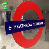 Heathrow Terminal 5 Tube Sign