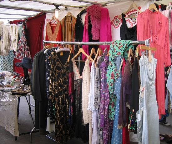 Vintage clothes stall Portobello Rd