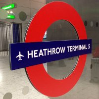 Heathrow Terminal 5 Tube Sign